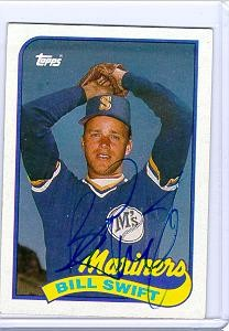 bill swift autographed topps 1989