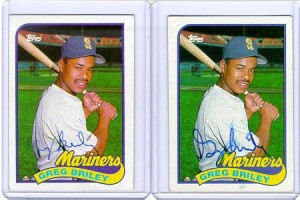 greg briley autographed topps 1989