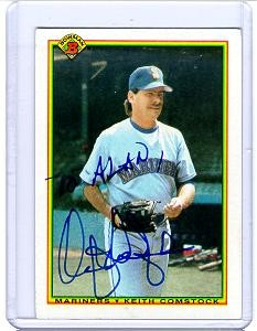 keith comstock autographed bowman 1990